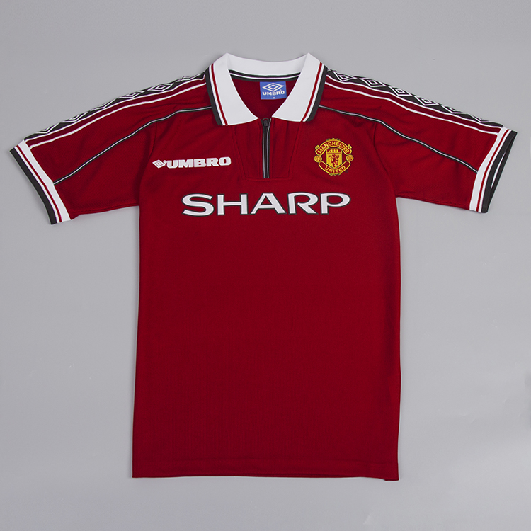 reputable site 3c754 97597 Manchester United 1998-1999 Short-Sleeve