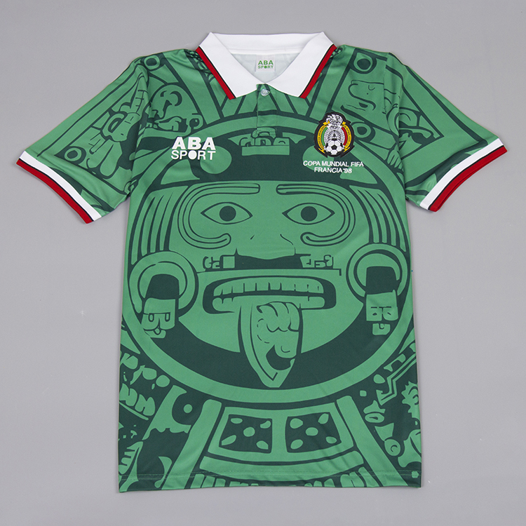 6d514ce0b Mexico 1998 World Cup Home Retro Jersey [Free Shipping]