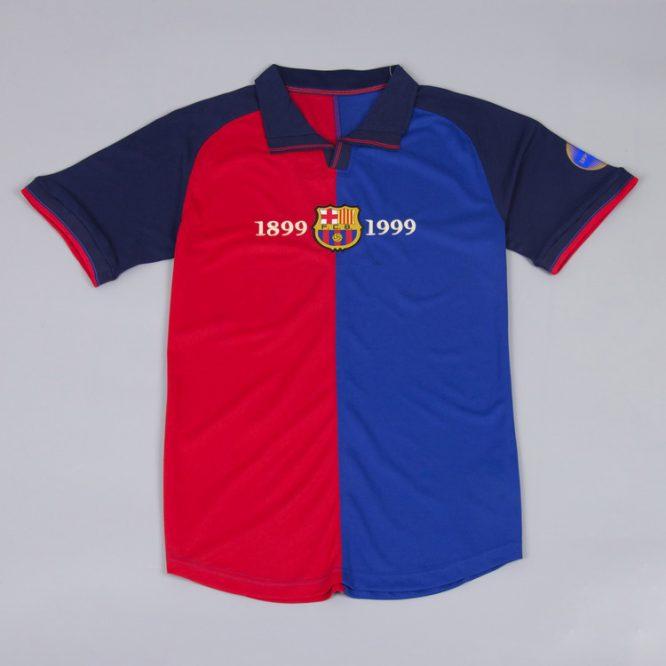 Shirt Front, Barcelona 1999-2000 Home Short-Sleeve Centenary