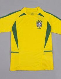 Shirt Front, Brazil 2002 Home World Cup Short-Sleeve Kit