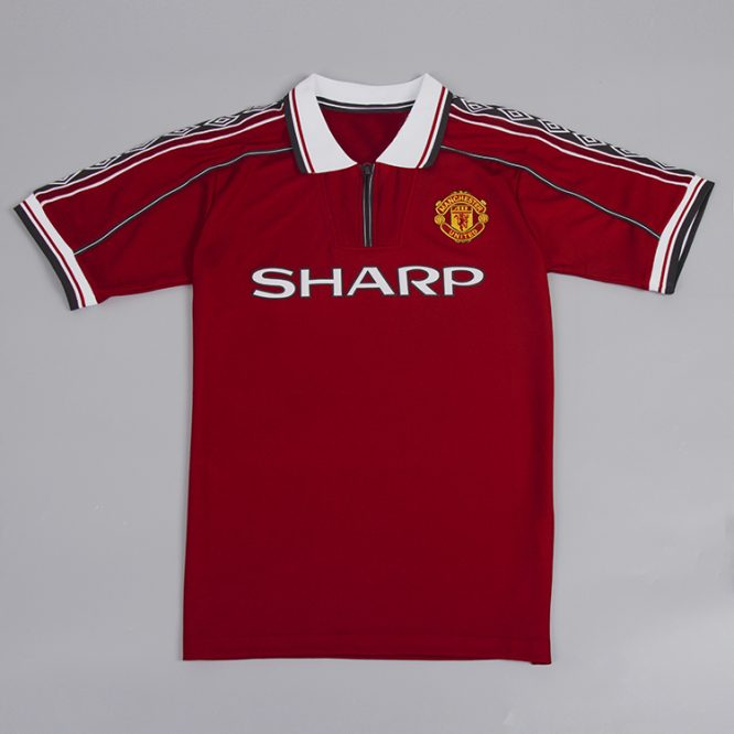 Shirt Front, Manchester United 1998-2000 Short-Sleeve