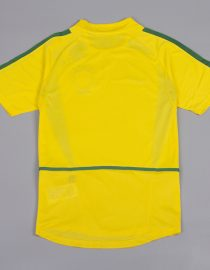 Shirt Back Blank, Brazil 2002 Home World Cup Short-Sleeve Kit