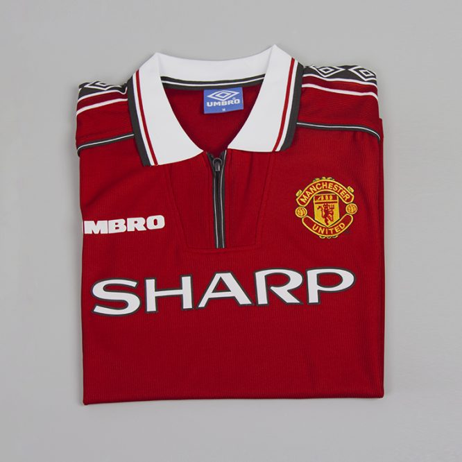 Shirt Front Alternate, Manchester United 1998-99 Short-Sleeve