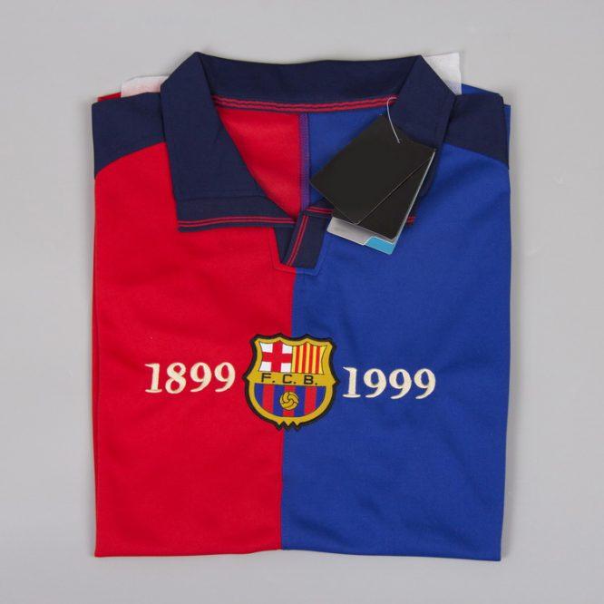 Shirt Front Alternate, Barcelona 1999-2000 Home Short-Sleeve Centenary