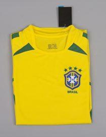 Shirt Front Alternate, Brazil 2002 Home World Cup Short-Sleeve Kit