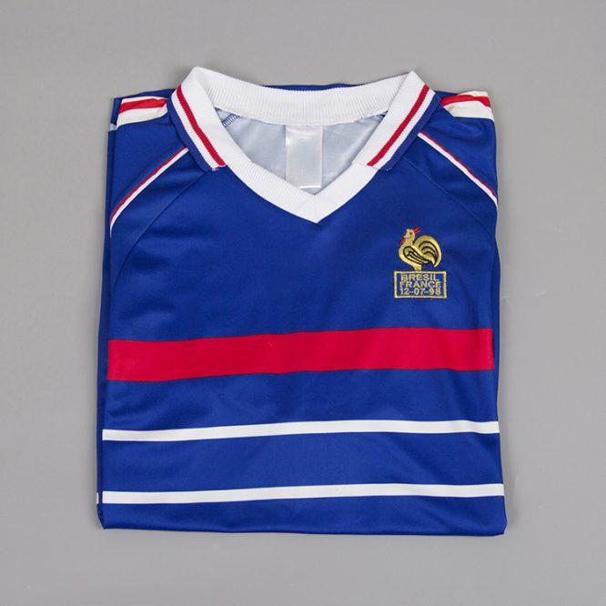 Shirt Front Alternate, France 1998 Home Short-Sleeve Kit