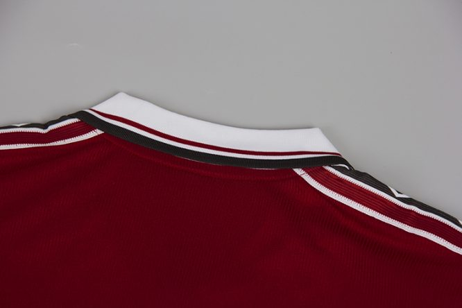 Shirt Collar Back, Manchester United 1998-99 Short-Sleeve