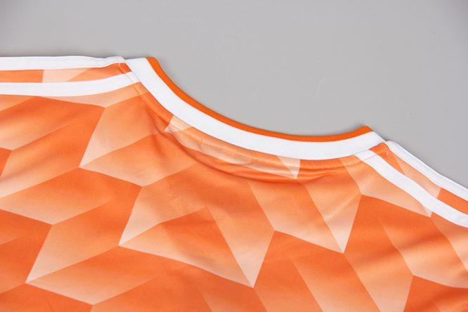 Shirt Collar Back, Netherlands 1988 Euro Short-Sleeve