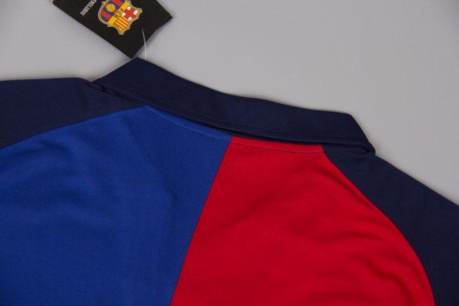 Shirt Collar Back, Barcelona 1999-2000 Home Short-Sleeve Centenary