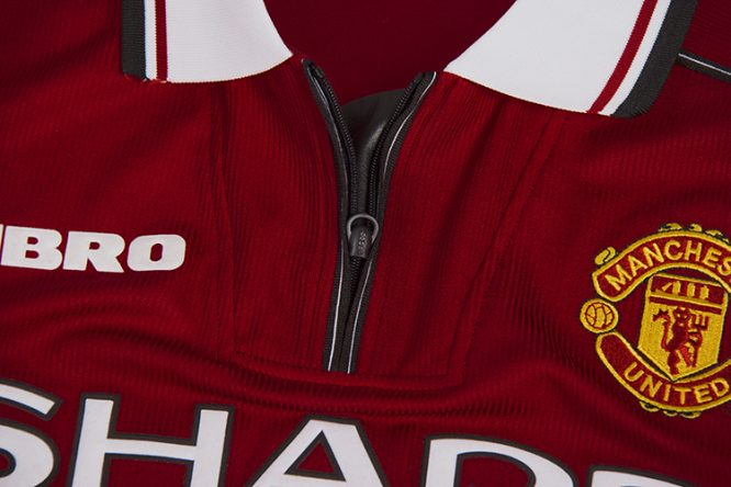 Shirt Zipper, Manchester United 1998-99 Short-Sleeve