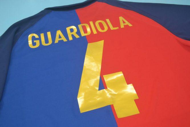 Guardiola Nameset, Barcelona 1999-2000 Home Short-Sleeve Centenary