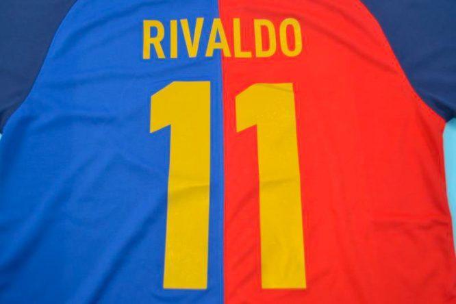 Rivaldo Nameset, Barcelona 1999-2000 Home Short-Sleeve Centenary