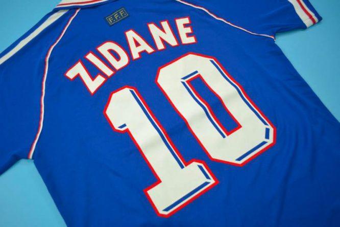 Zidane Nameset, France 1998 Home Short-Sleeve Kit