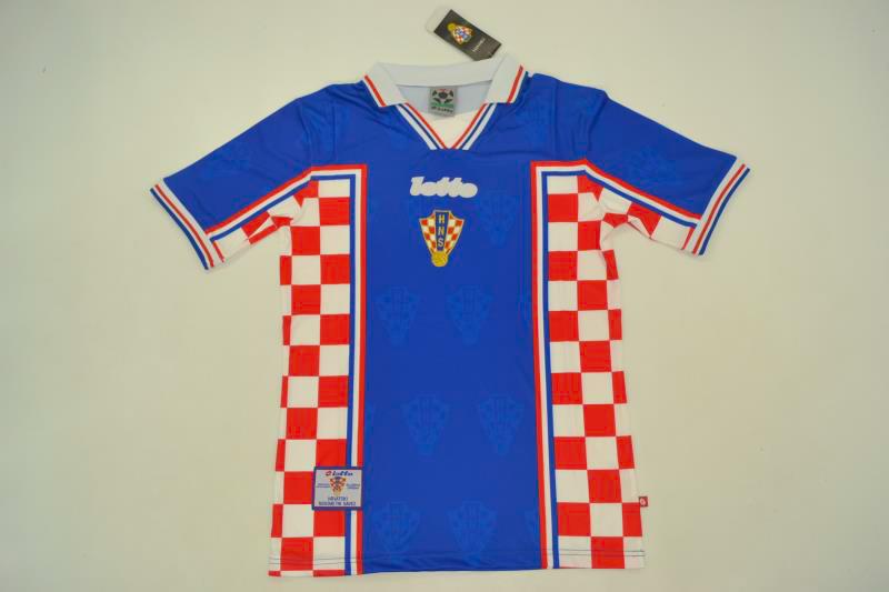 8ca118409 Croatia 1998 World Cup Away Retro Jersey  Free Shipping