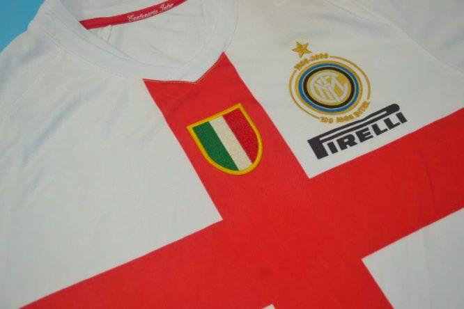 Shirt Front Alternate, Inter Milan 2007-2008 Away Centenary Short-Sleeve