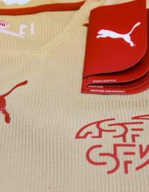 Shirt Front Puma Sign & Switzerland Emblem, Switzerland 2006 Gold Third