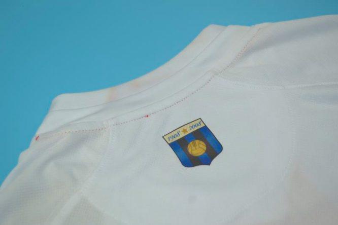 Shirt Collar Back, Inter Milan 2007-2008 Away Centenary Short-Sleeve