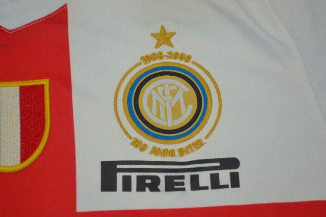 Shirt Inter Milan Emblem, Inter Milan 2007-2008 Away Centenary Short-Sleeve
