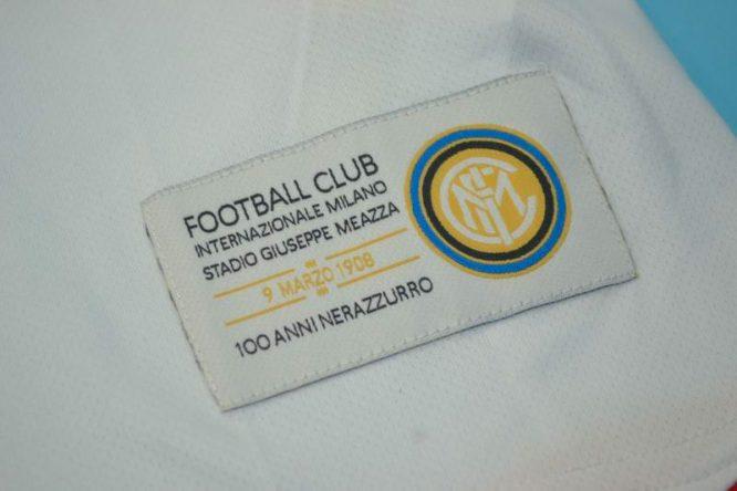 Shirt Inter Mini-Patch, Inter Milan 2007-2008 Away Centenary Short-Sleeve