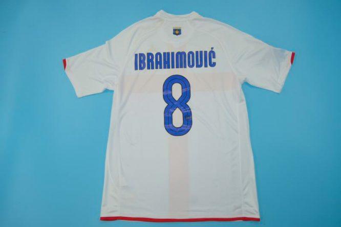 Ibrahimovic Nameset, Inter Milan 2007-2008 Away Centenary Short-Sleeve