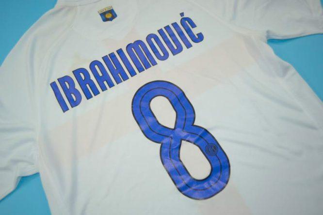 Ibrahimovic Nameset Alternate, Inter Milan 2007-2008 Away Centenary Short-Sleeve