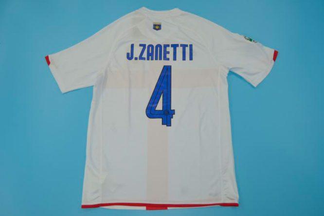 Zanetti Nameset, Inter Milan 2007-2008 Away Centenary Short-Sleeve