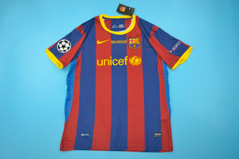 sports shoes b806b 2efd7 FC Barcelona 2011 Champions League Final Short Sleeve