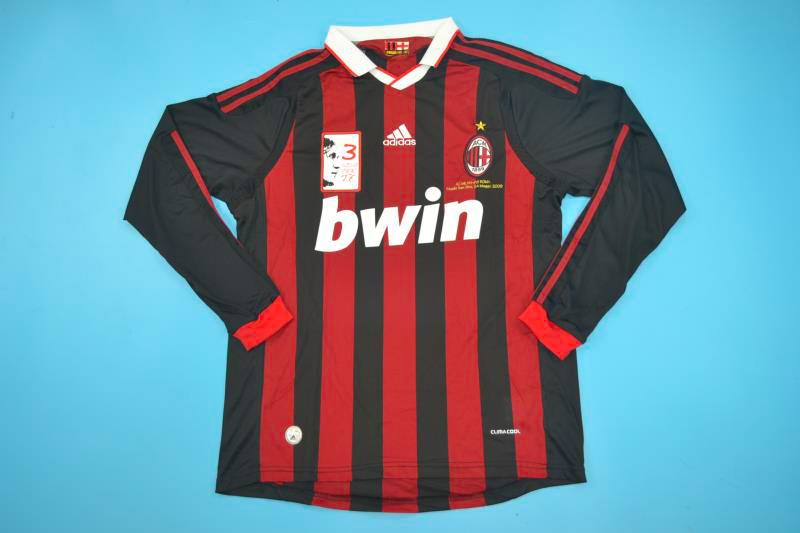 brand new 7cf02 6b532 AC Milan 2008-2009 Paolo Maldini's Last Match Long-Sleeve