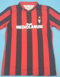 Shirt Front, AC Milan 1990-1991 European Cup Logo Short-Sleeve