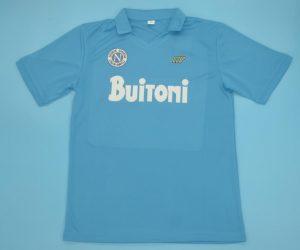 Shirt Front, Napoli 1986-1987 Home Short-Sleeve