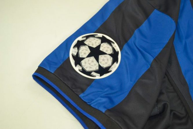 Shirt Champions League Patch, Inter Milan 1998-1999 Home Short-Sleeve