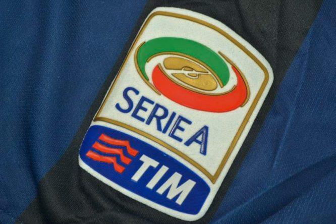 Shirt Serie A Patch, Inter Milan 2013-2014 Zanetti Retirement