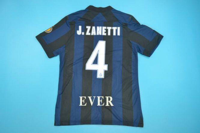 Shirt Back, Inter Milan 2013-2014 Zanetti Retirement