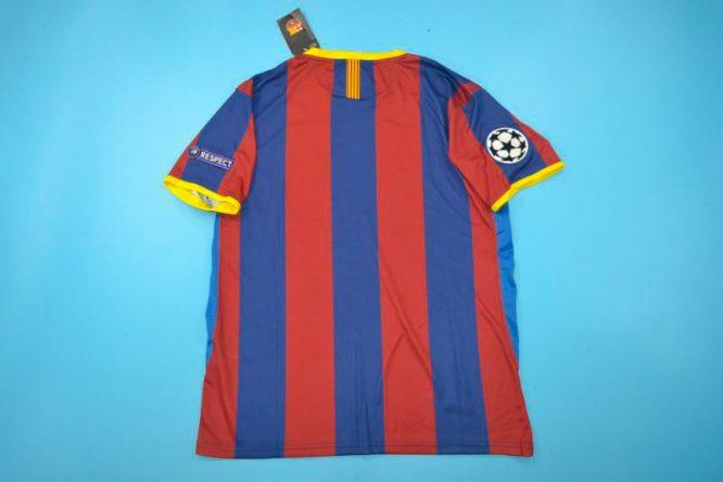 Shirt Back Blank, Barcelona 2010-2011 Champions League Final