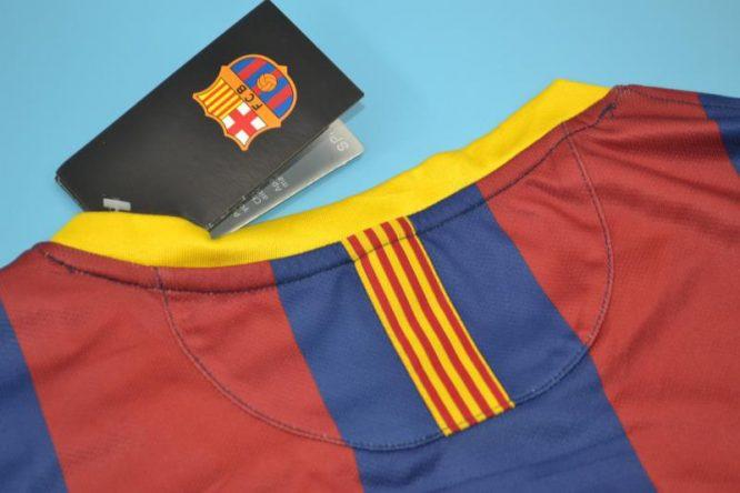 Shirt Collar Back, Barcelona 2011-2012 Home Short-Sleeve