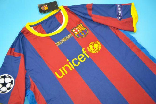 Shirt Front Alternate, Barcelona 2010-2011 Champions League Final