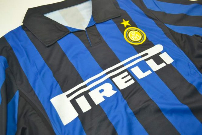 Shirt Front Alternate, Inter Milan 1998-1999 Home Short-Sleeve