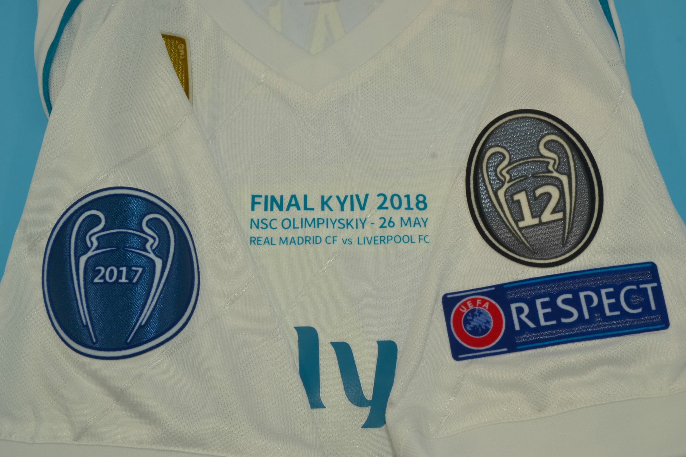 new styles 14da4 68821 Real Madrid 2017-2018 Champions League Final Short Sleeve