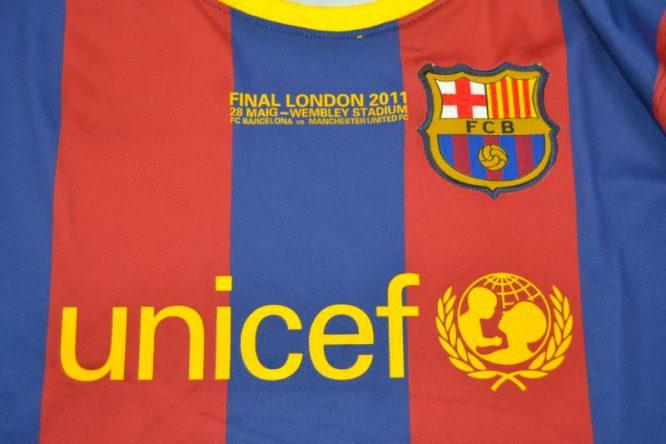 Shirt Front Alternate 2, Barcelona 2010-2011 Champions League Final