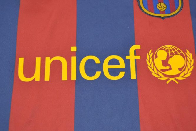 Shirt Unicef Emblem, Barcelona 2011-2012 Home Short-Sleeve