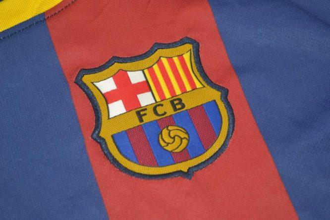 Shirt Barcelona Logo, Barcelona 2011-2012 Home Short-Sleeve