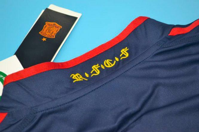 Shirt Collar Back, Spain 2010 World Cup Final Away