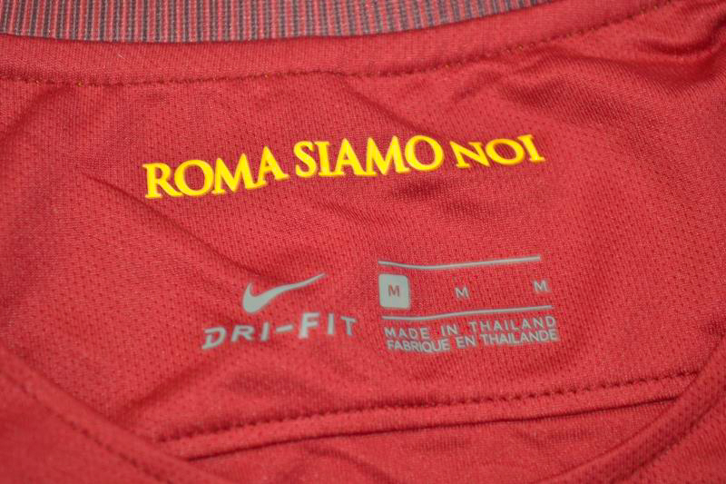aa36d5d2282 Shirt Collar Front, Roma 2016-2017 Totti Retirement Special Edition