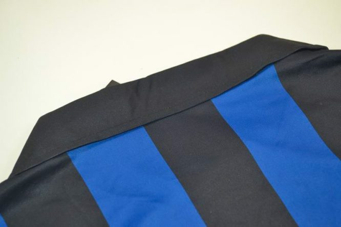 Shirt Collar Back, Inter Milan 1998-1999 Home Short-Sleeve