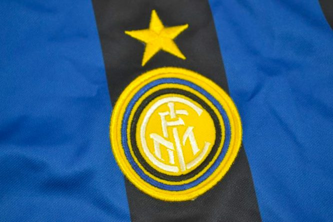 Shirt Inter Milan Emblem, Inter Milan 1998-1999 Home Short-Sleeve
