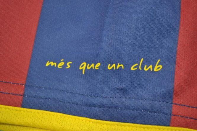 Shirt Sleeve Closeup, Barcelona 2011-2012 Home Short-Sleeve