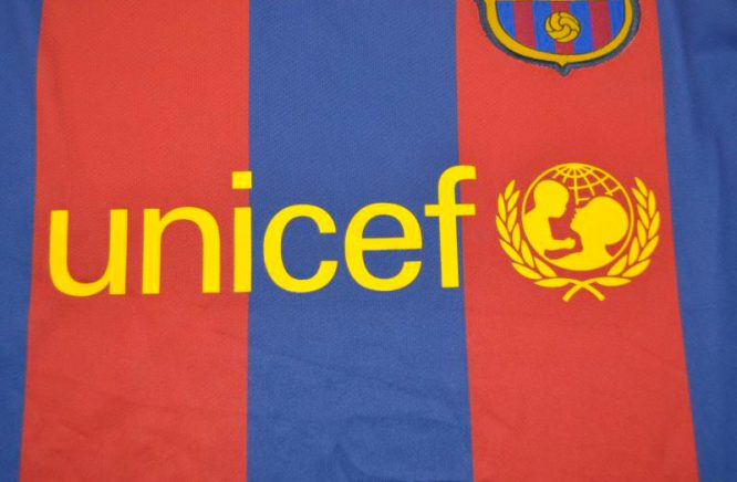 Shirt Unicef Imprint, Barcelona 2010-2011 Champions League Final