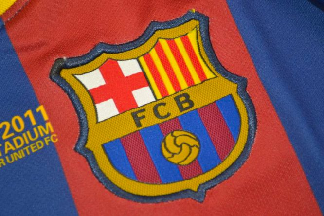 Shirt Barcelona Emblem, Barcelona 2010-2011 Champions League Final
