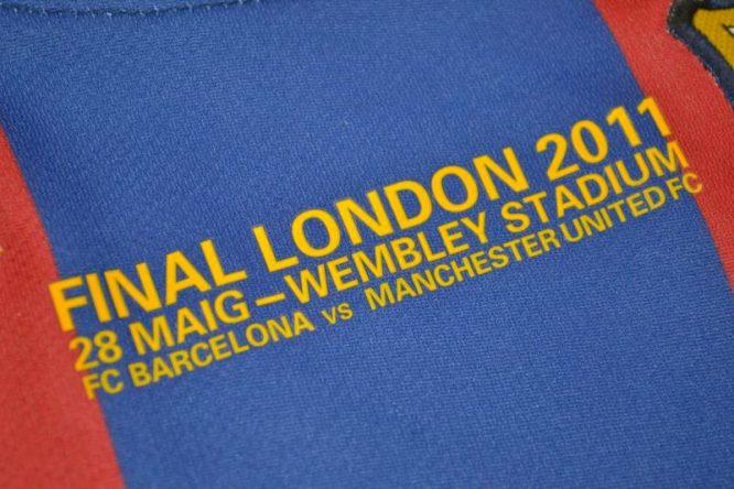 Shirt Final Imprint, Barcelona 2010-2011 Champions League Final