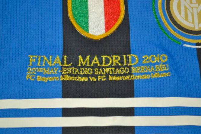 Shirt Final Imprint, Inter Milan 2010 Champions League Final Short-Sleeve